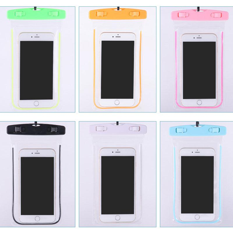"Waterproof Bag Fluorescence Cases Cover Dry Pouch for Apple iOS iPhone Android Less than 6.0"" inch(China (Mainland))"