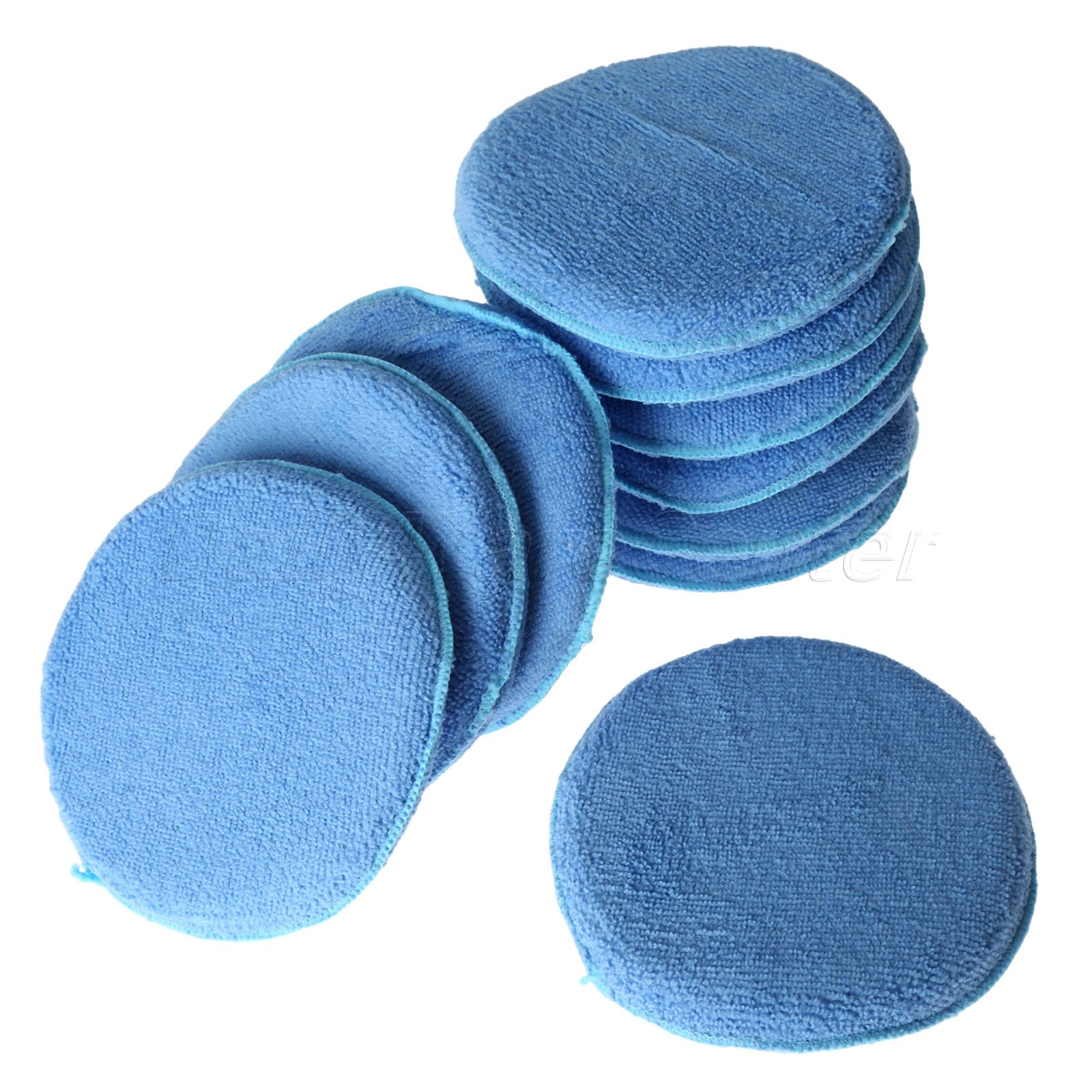 New 10X 6inch Car Waxing Polish Soft Microfiber Foam Sponge Applicator Pads Auto Cleaning Detailing Pads For Car Wash Care(China (Mainland))