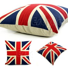 US Flag Cushion Covers Capa De Almofada Linen Cotton For Sofa Throw Pillows