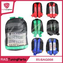 JDM SPARCOS TAKATAS Bride Racing Backpack Special Design School Bag RS-BAG008()