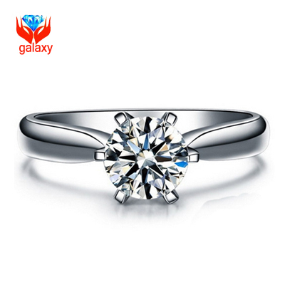 Big 98 OFF Fashion White Gold Filled Wedding Rings For Women Brand Luxury 2 Carat CZ