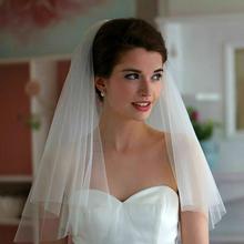 Free Shipping Big Discount Top Quality Cheap Veu De noiva Wedding Veils Bridal Accesorie Short Bridal Veils White/Ivory(China (Mainland))