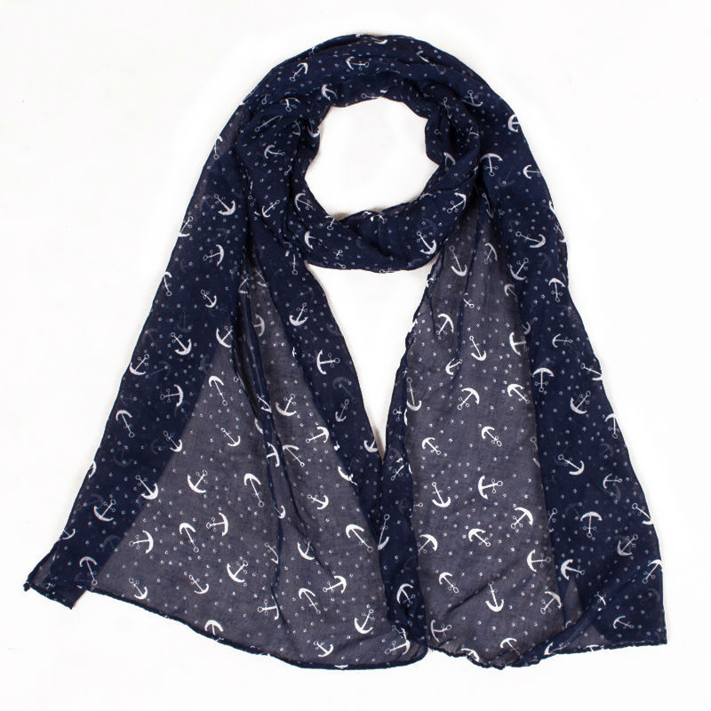 Women Fashion Pretty Long Soft Voile Scarf Printing Wrap Shawl Stole Scarves Hot Colorful Size:180*50cm(China (Mainland))