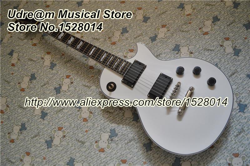 China Custom Shop White LP Model Electric Guitars Rosewood Fingerboard & DIY Guitarra Headstock With Silver Hardware(China (Mainland))