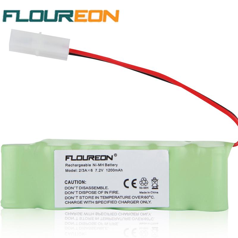 FLOUREON 2/3AA*6 Battery Pack Tamiya Plug 7.2V 1200mAh Charger Batteries RC Battery Rechargeable Battery(China (Mainland))