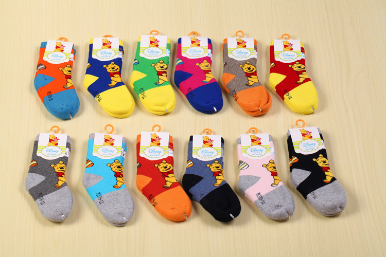 12 pair/lot colorful Cute baby socks kids boys girls socks toddler sox baby wear 6--16cm children accessories(China (Mainland))