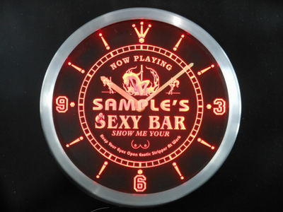 ncqk-tm Name Personalized Sexy Bar Now Playing Stripper Neon Sign LED Clock Wholesale Dropshipping