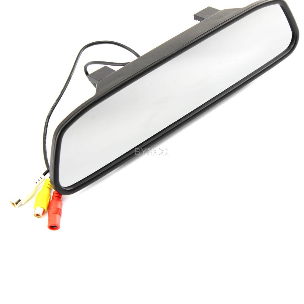 """Sale High Resolution 4.3"""" Color Tft LED Car Rearview Mirror Monitor 480*240 16:9 Screen 12v for Dvd Camera Vcr(China (Mainland))"""