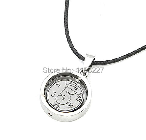 Free shipping 2015 couple style justin bieber Titanium steel men silver coin necklace bijouterie(China (Mainland))