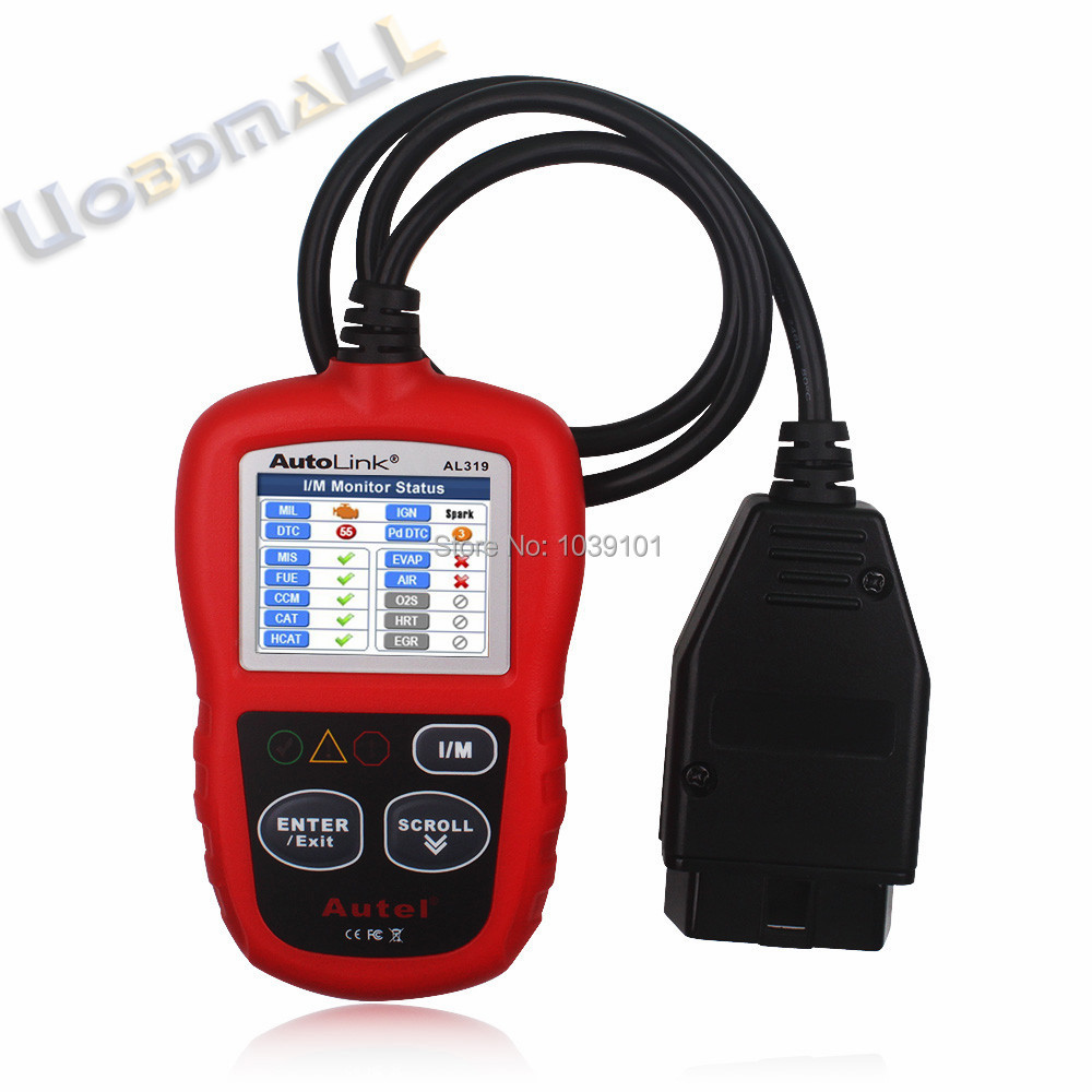 Autel OBD2 & Can Code Reader Auto Link AL319 Car OBD2 Scanner Diagnostic Tool Free Shipping(China (Mainland))