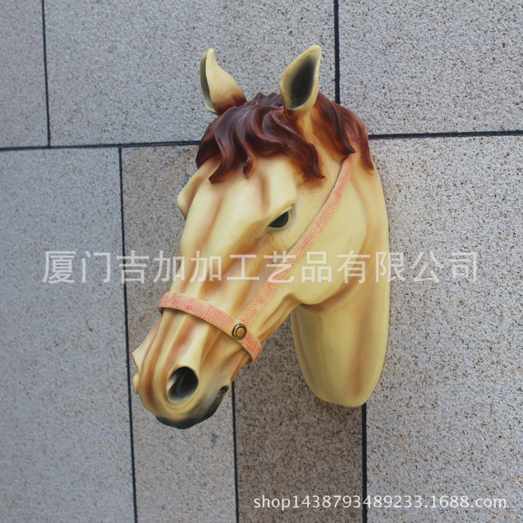 Resin animal head sculpture crafts home hotel soft decorative crafts simulation(China (Mainland))