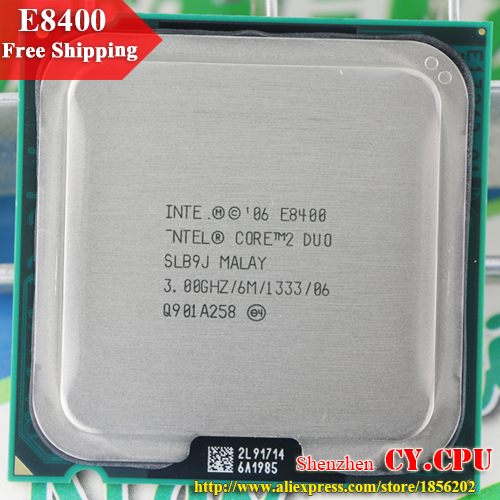 For Intel Core 2 Duo E8400 CPU Processor (3.0Ghz/ 6M /1333GHz) Socket 775 free shipping(China (Mainland))