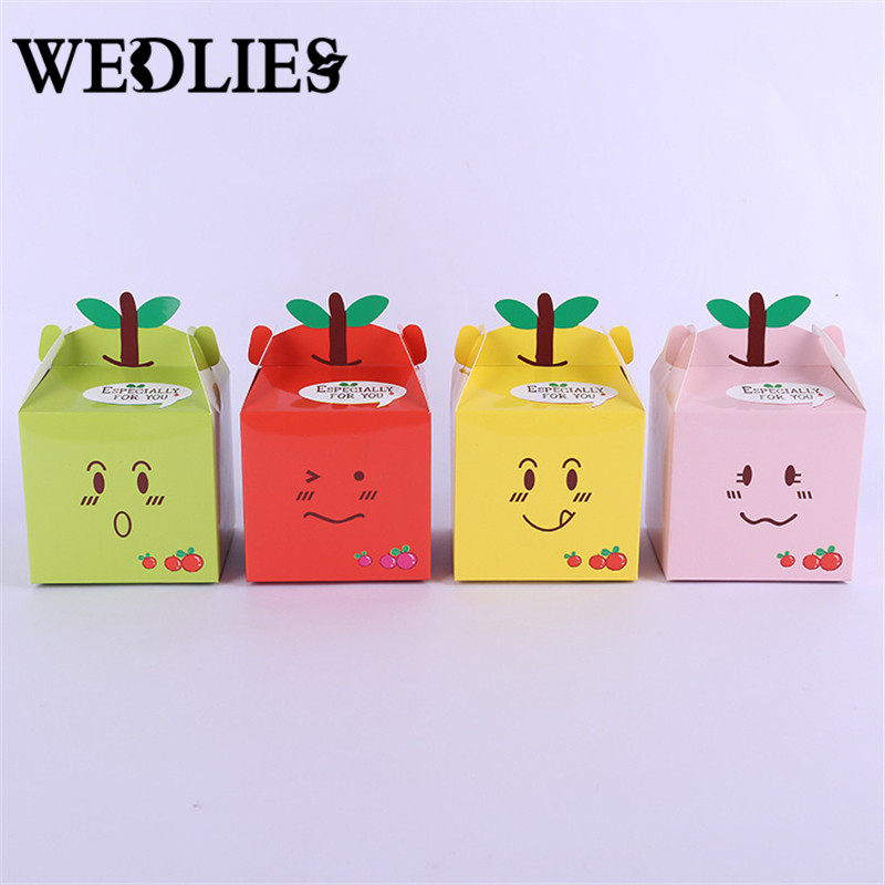 50 Pcs/lot Cupcake Box Candy Gift Box Favor Boy Kids Birthday Party Supplies Decoration Event Party Supplies(China (Mainland))