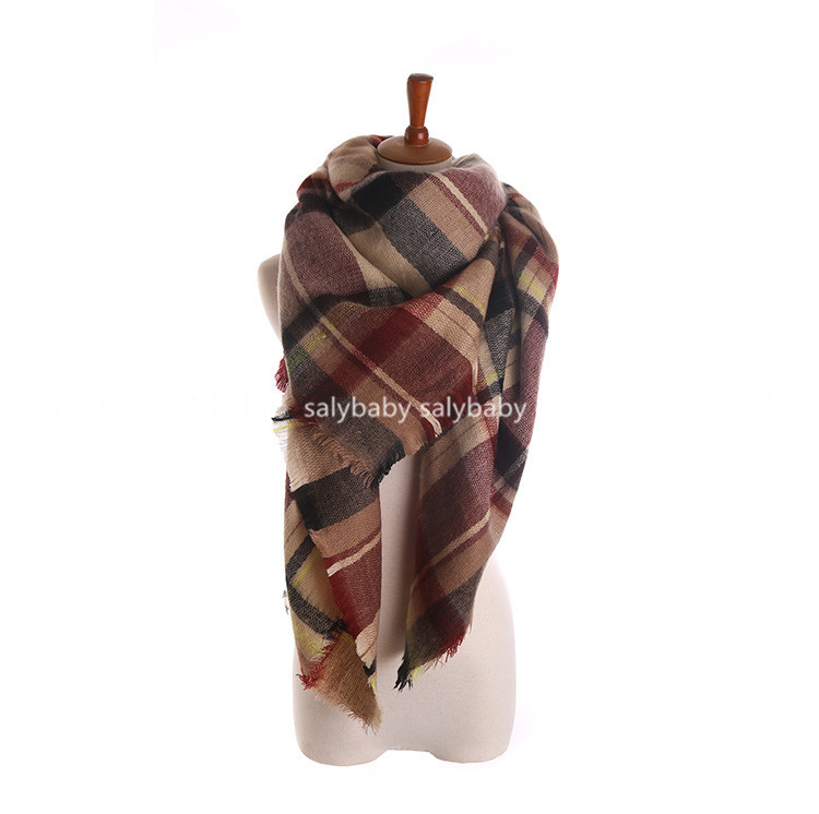 2016 Hot Sale Large Size Big Winter Scarf With A Warm Color And Large On Behalf Free Shipping