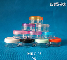 Promotion 505G Plastic Cream Jars, 5 g cream jars, 5ml sample cosmetic bottles Container - Chengdu Miroo Bio-Technology Co.,Ltd store