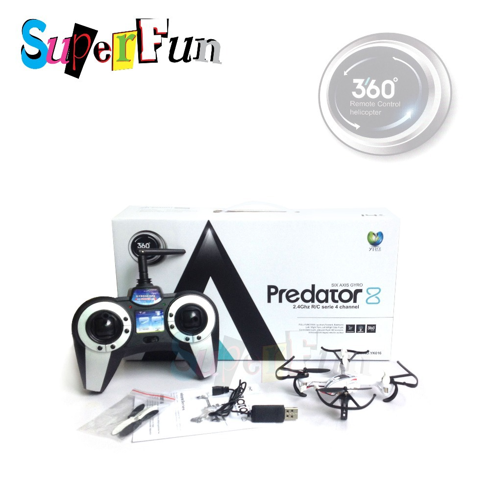 YIKE toys YK016# 2.4Ghz 4CH LED Version Upgraded 360 eversion Mini Quadcopter(RTF). Free Shipping.(China (Mainland))