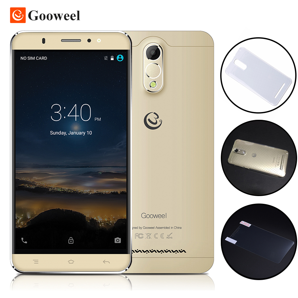 Gooweel M3 3G Smartphone 6.0 inch IPS Screen MTK6580 Quad core Cell phone 1GB Ram 8GB Rom 8MP camera GPS Mobile phone free case(China (Mainland))