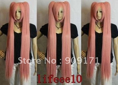 Beautiful extra-long pink straight anime cosplay women ladys hair full wig/wigs (B0320)<br><br>Aliexpress
