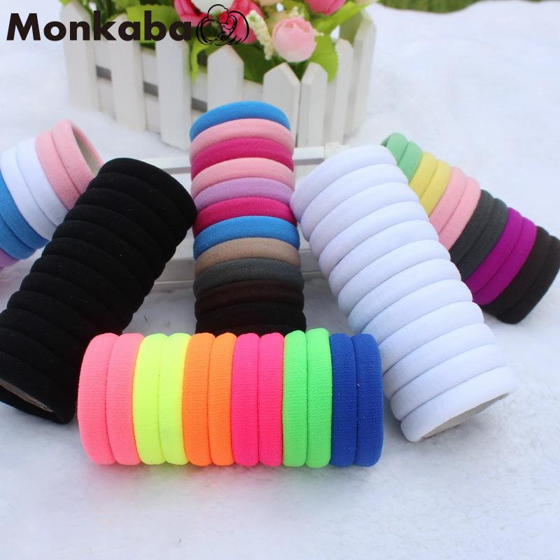 50pcs/lot Girl Candy Color Rubber band Fashion high elastic hair rope ties headband gum girl Hair accessory(China (Mainland))