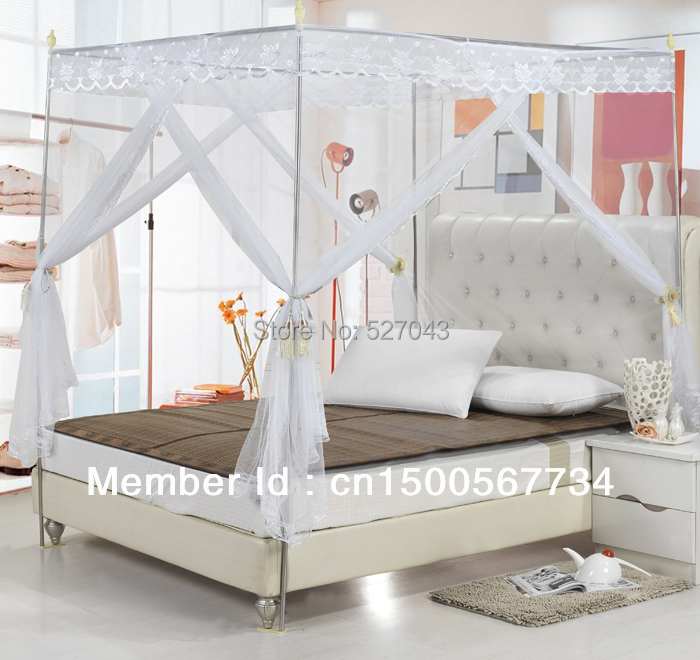 Palace Three-door Stainless steel Landing Square mosquito nets(China (Mainland))