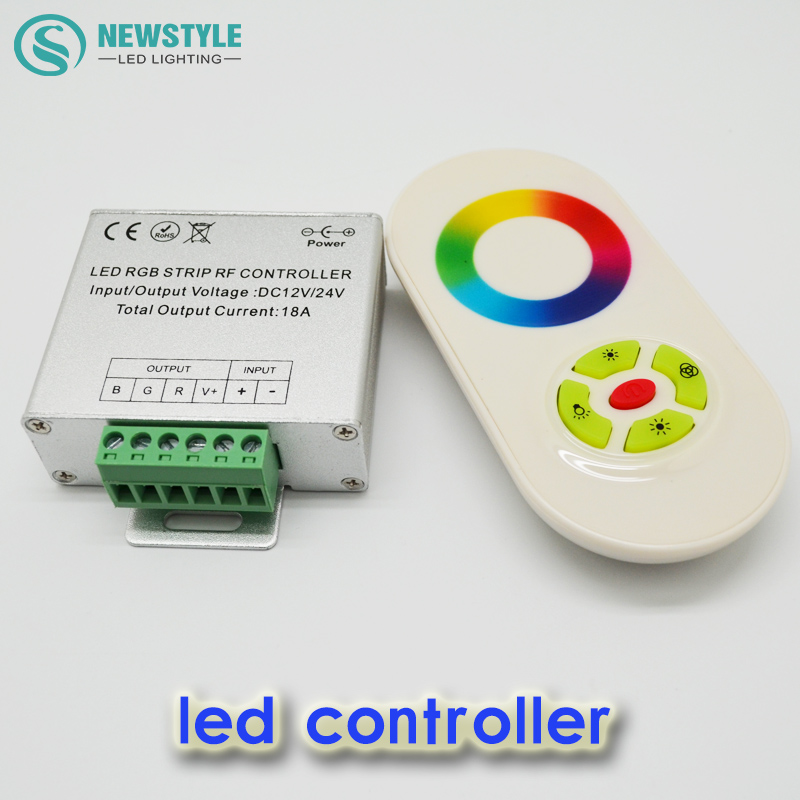 Magic Dream Color RGB LED Controller,5 Keys Remote Controller, RGB LED Strip Touch Panel RF Controller,24V/12V(China (Mainland))