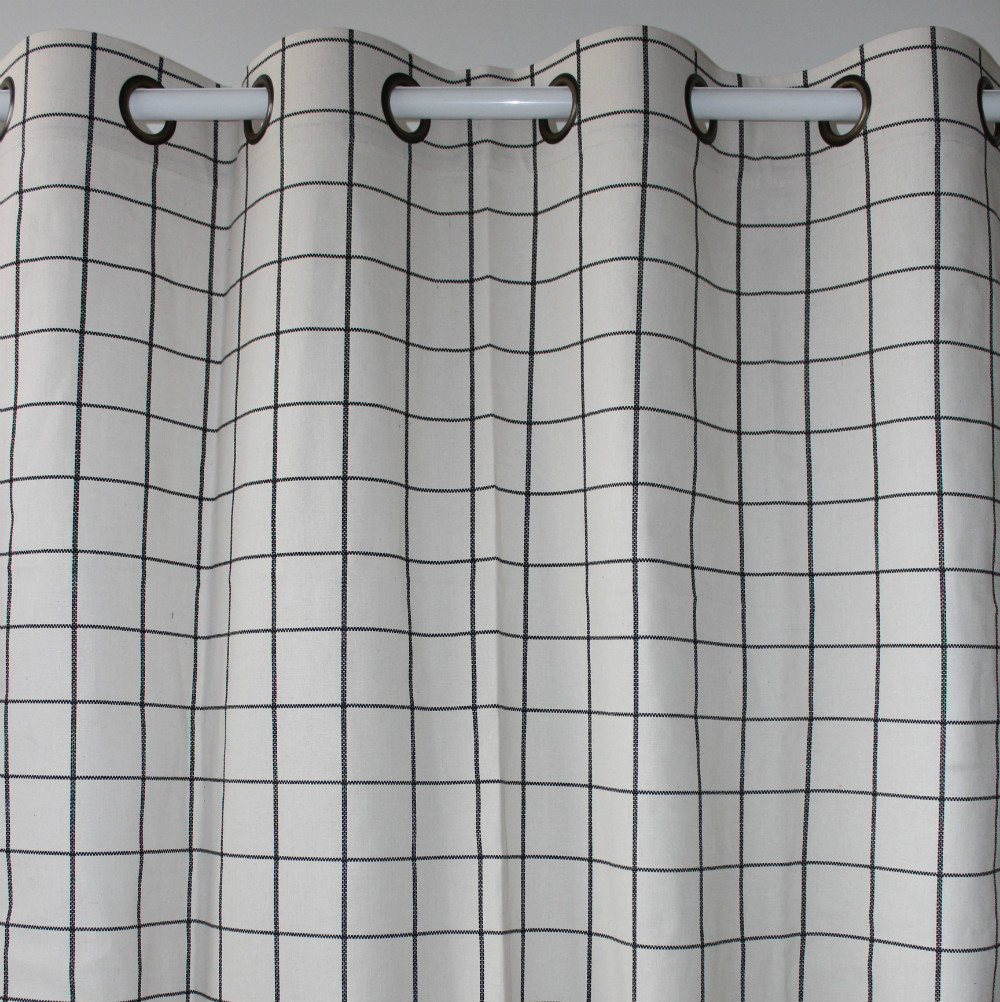 """new arrival 1piece only check plaid cotton linen window curtains for bedroom living room store home Decor 51""""*98""""in(China (Mainland))"""