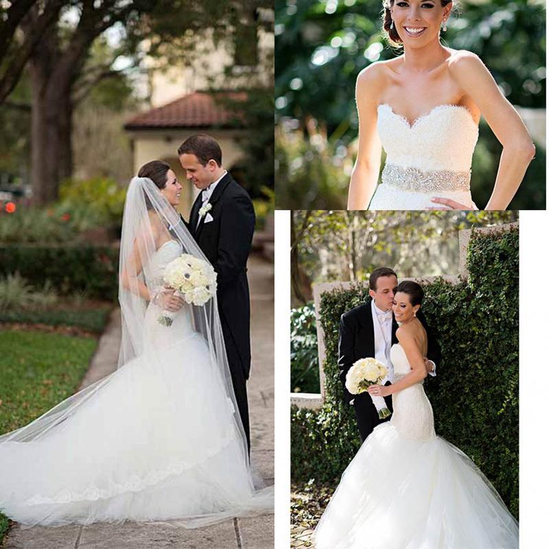 купить Свадебное платье Sarahbridal 2015 vestido noiva 122602 недорого