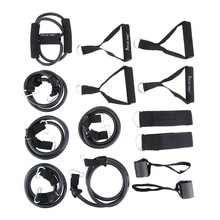New 15 Pcs/Set Latex Resistance Bands Workout Exercise Pilates Yoga Crossfit Fitness Tubes Pull Rope