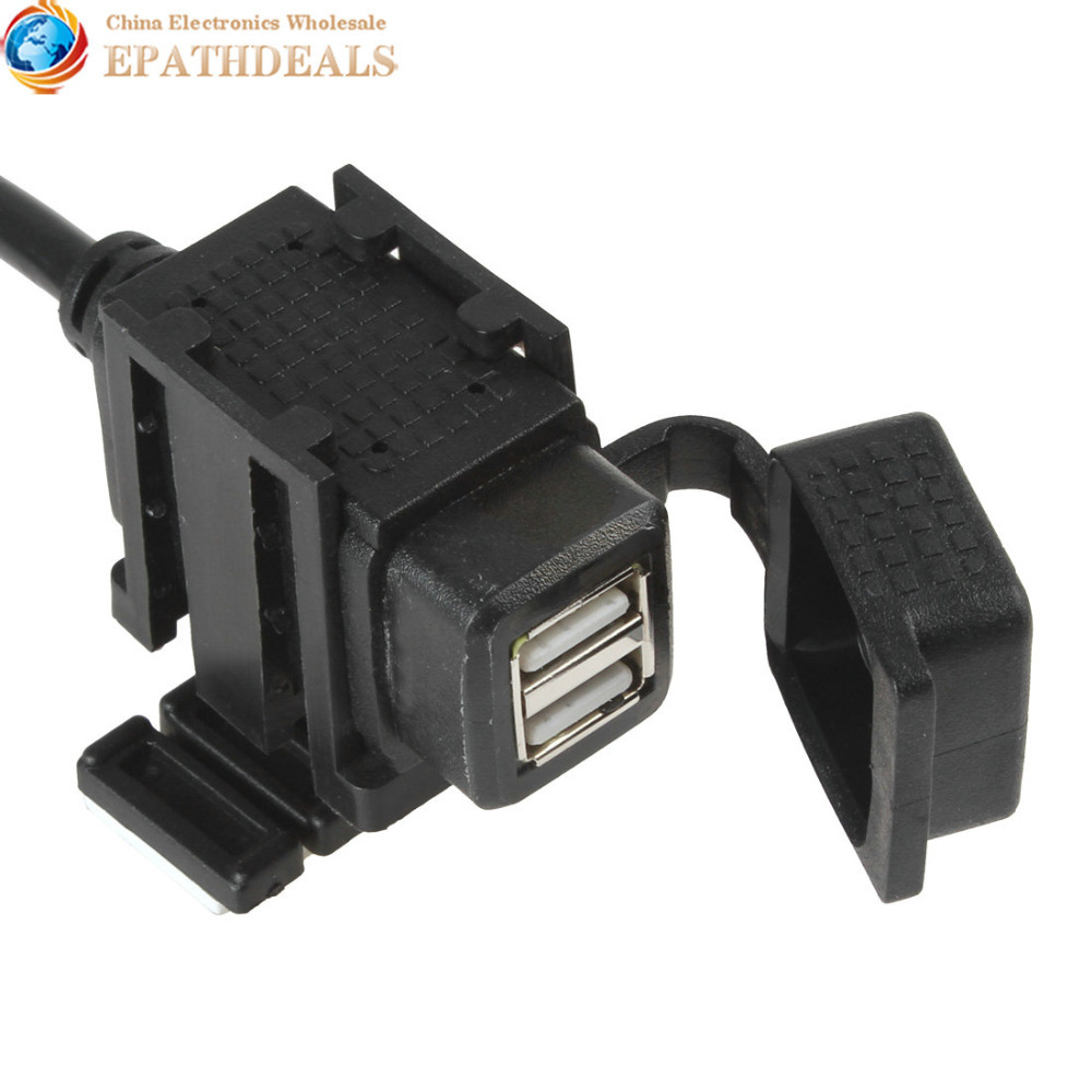 Motorcycle Mobile Phone GPS Waterproof Dual USB Power Supply Port Socket Charger(China (Mainland))