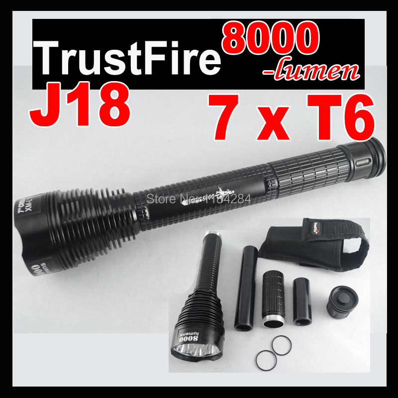 Trustfire J18 TR-J18 SUPER BRIGHT LED Flashlight,8000 LM, 7* CREE XML T6 High Power Torch camping hiking - Pomato Technology Co., Limited store