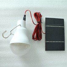 0.8W/5V Solar Power LED Bulb Lamp Solar panel Applicable Outdoor Lighting Camp Tent Fishing Lamp,Garden Light Portable(China (Mainland))