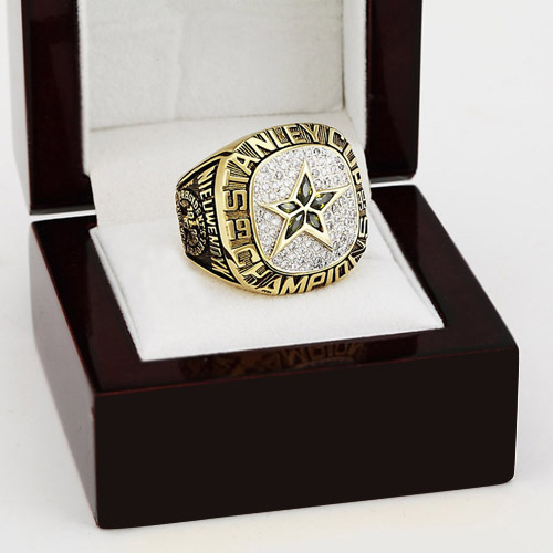 NHL 1999 Dallas stars Hockey Stanley Cup Championship Ring With High Quality Wooden Box Christmas Fans Best Gift(China (Mainland))