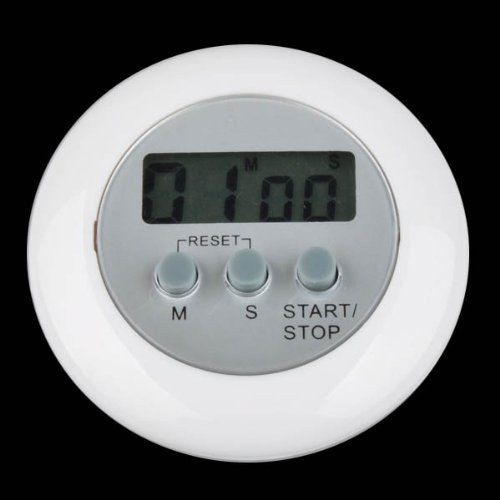 Digital LCD Timer Stop Watch Kitchen Cooking Countdown Clock Alarm White the timer in the kitchen egg timer(China (Mainland))