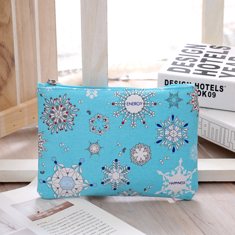 Free Shipping Fashion Canvas Cosmetic Bags Blue Color with Florals Pattern Makeup Storage Bag Wash Bag<br><br>Aliexpress