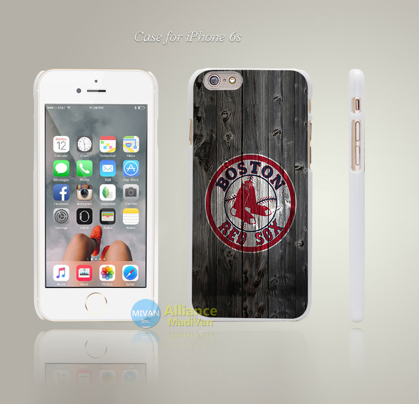 Boston Red Sox Style Hard White Case Cover Coque for iPhone 4 4s 4g 5 5s 5g 5c 6 6s 6 6s Plus(China (Mainland))