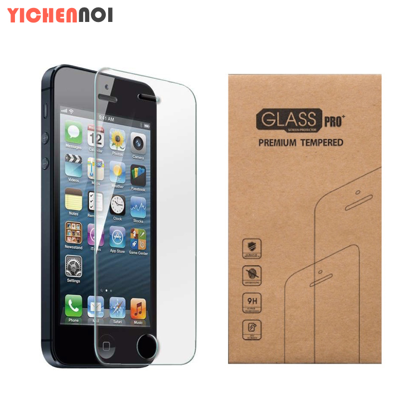 For iphone 5 5S 5C SE Screen protection film of water and dust resistant safety Tempered glass with transparent packaging 0.3mm(China (Mainland))