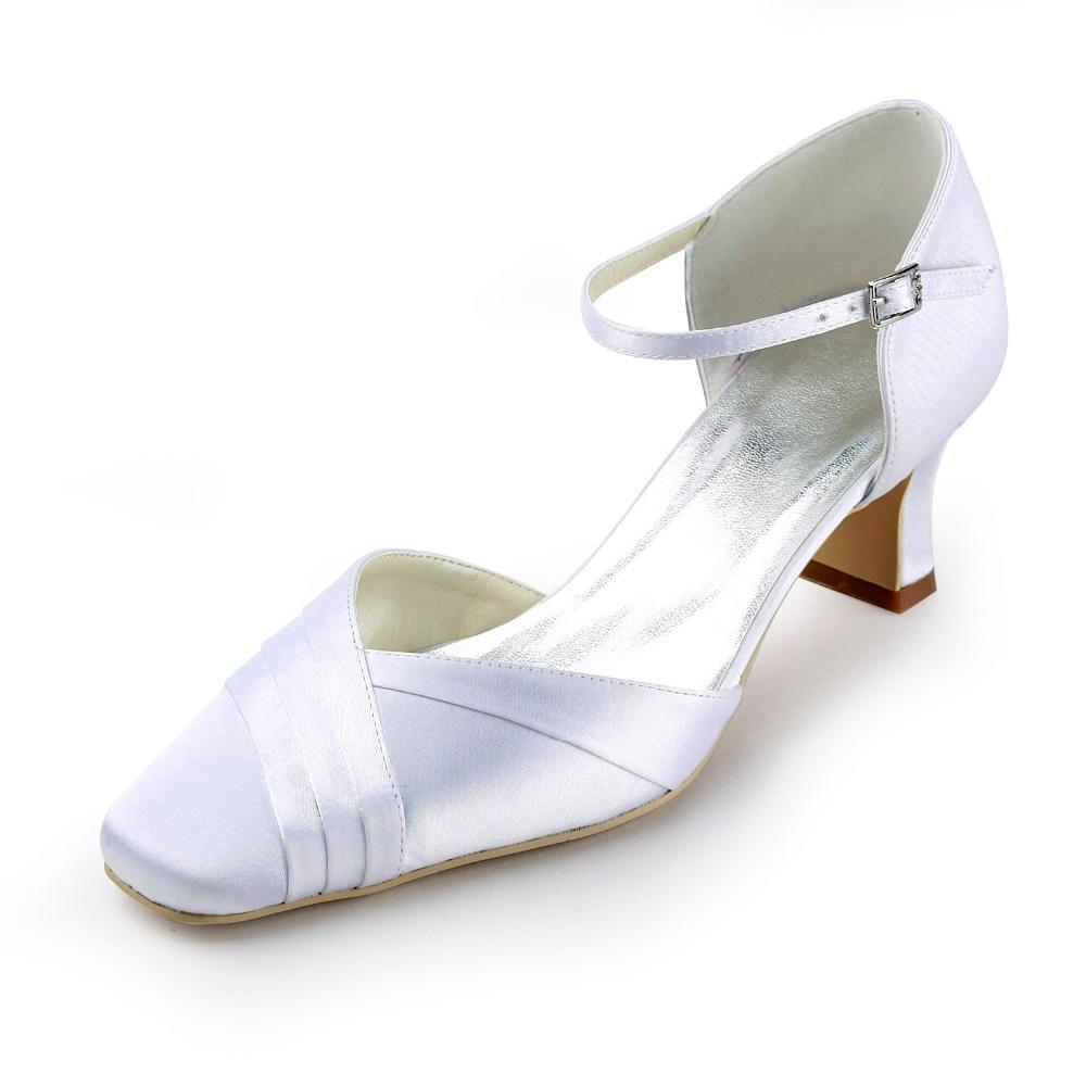 Ivory Chunky Heels - Is Heel
