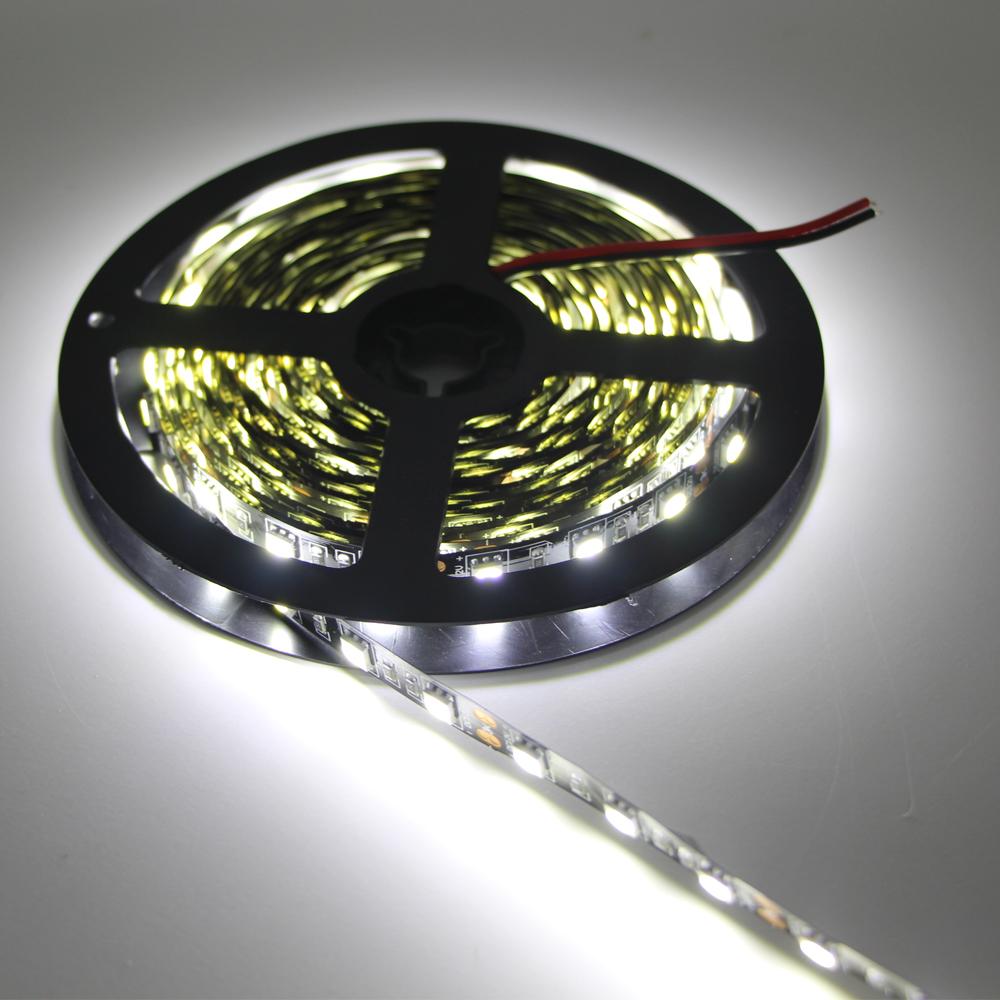 1/2/3/4/5M LED RGB Strip Light 5050 SMD RGB Led Tape Not waterproof black PCB Led Stripe Bar lamp String Holiday Lights DC12V(China (Mainland))