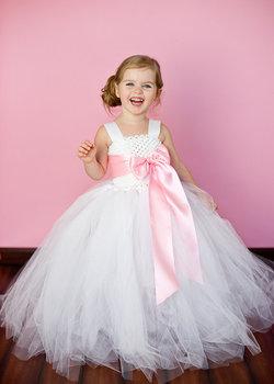 6 цвет ленты с бантом 2Y-8Y белый цветок девушка туту платье на день рождения фото свадебная ну вечеринку фестиваль девушки цветок платья