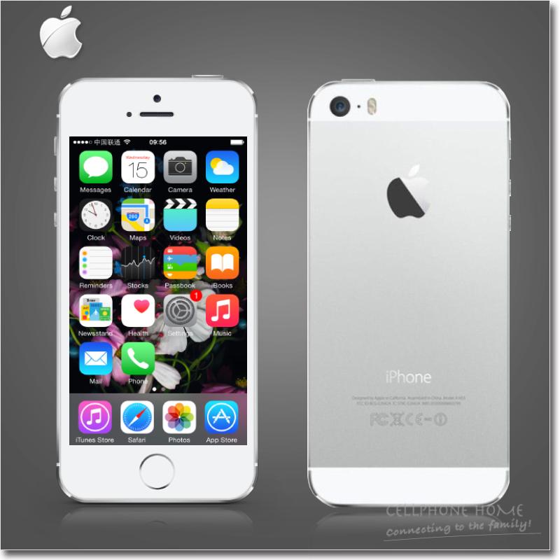 "Original Apple iPhone 5S Unlocke Cell phone Dual-Core 16GB/32GB ROM A7 IOS 8 4.0""IPS 8MP WIFI 3G NFC White Black Gold USED Phone(China (Mainland))"