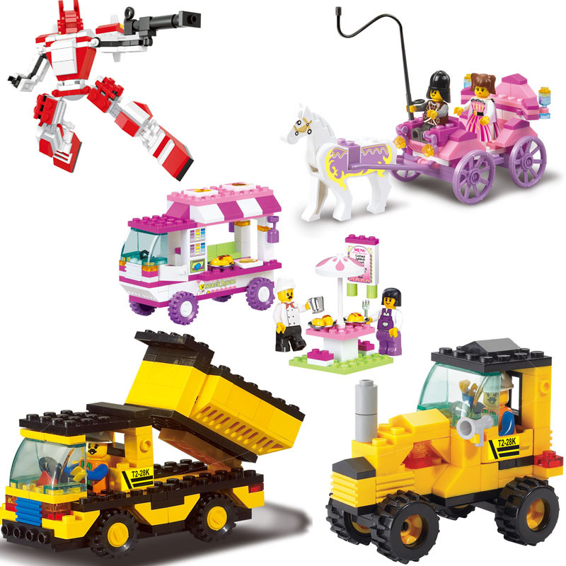 Educational Toys for children Sluban Building Blocks toys Snack car for girl self-locking bricks Compatible with Lego<br><br>Aliexpress