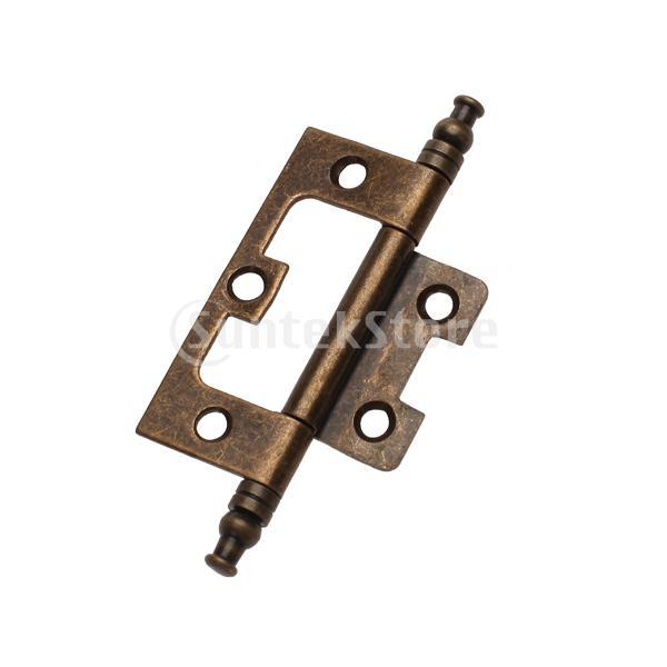 Free Shipping Antique Bronze Flush Hinge with Finial(China (Mainland))