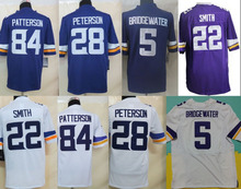 American Football Jersey Elite Authentic Jersey #5 Teddy Bridgewater Jerseys Cordarrelle Patterson Adrian Peterson Stitched (China (Mainland))