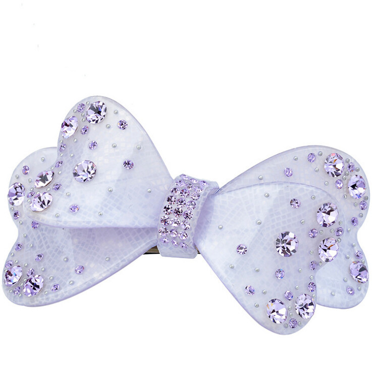 Hot sale elegant acrylic rhinestone butterfly hair clip Luxious pince cheveux crystal barrettes hairpins Free Shipping LS3020(China (Mainland))