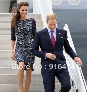 2012 the new spring clothing princess Kate with game long sleeve bud silk skirt temperament cultivate one's morality dress
