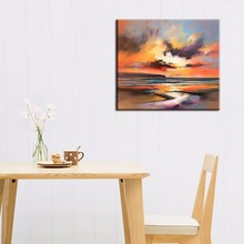 Buy Artist Design New Abstract Landscape Sunset Landscape Oil Painting Canvas Living Room Wall Sunrise Painting Canvas for $28.05 in AliExpress store