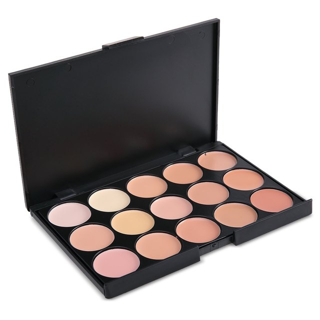 15 Colors Professional Contour Palette Women Contouring Makeup Cosmetic Facial Face Care Cream Concealer Palette 1439319
