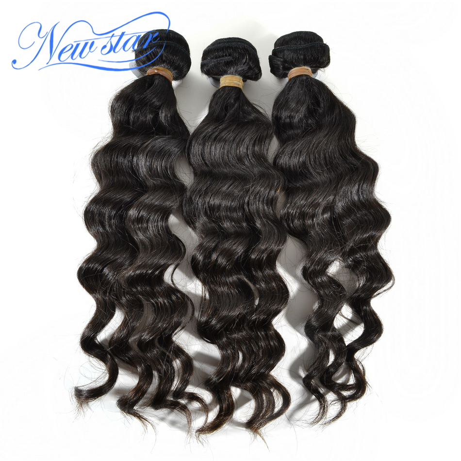 new star hair virgin Malaysian loose wave weave hair extention 3 PCS lot best quality