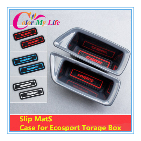2014 New Arrival Special Offer Door Words Car Covers free Shipping Slip Mat of Storage Box Case for Ford Ecosport Accessories(China (Mainland))