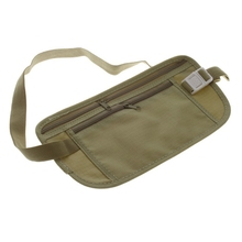 1pcs Made of Washable MaterialTravel Pouch Bag Compact Security Money Passport Waist Belt Holder Pocket(China (Mainland))